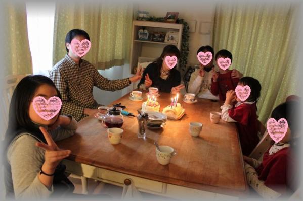 春の誕生日パーティー