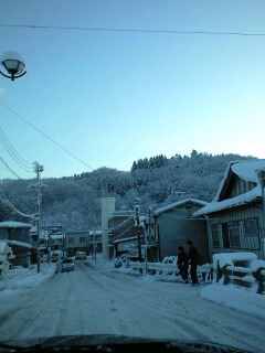荒町の雪景色