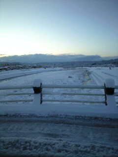 上の橋から雪景色