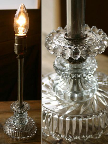ヴィンテージクリアガラス ホブネイルランプ/クリスタル照明