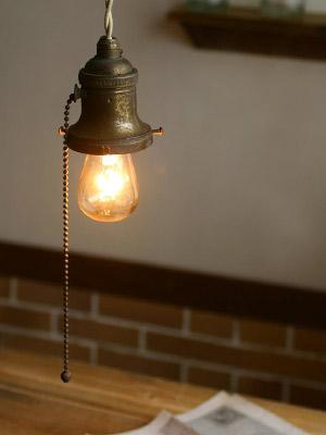 ヴィンテージGE社真鍮ソケット/アンティーク照明ライトランプ