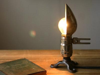 ヴィンテージミニソケット/アンティーク工業系照明ライトランプ