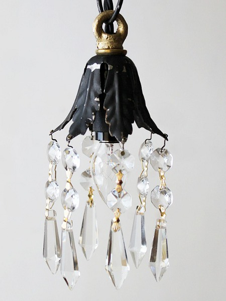 花形シェードミニプリズムランプ/アメリカアンティーク照明雑貨