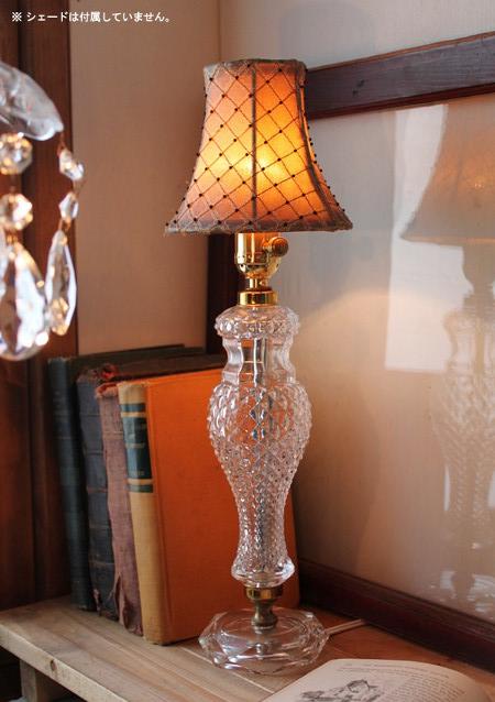 真鍮ソケットクリアガラス製テーブルランプ/アンティーク照明
