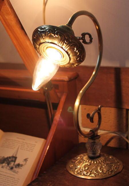 ヴィンテージLEVITON鍵ソケット真鍮テーブルランプフレーム付/アンティーク照明ライト 2011/02/16