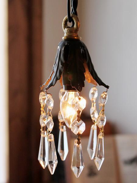 花形シェードミニプリズムランプ/アンティークガラスライト照明 20110203