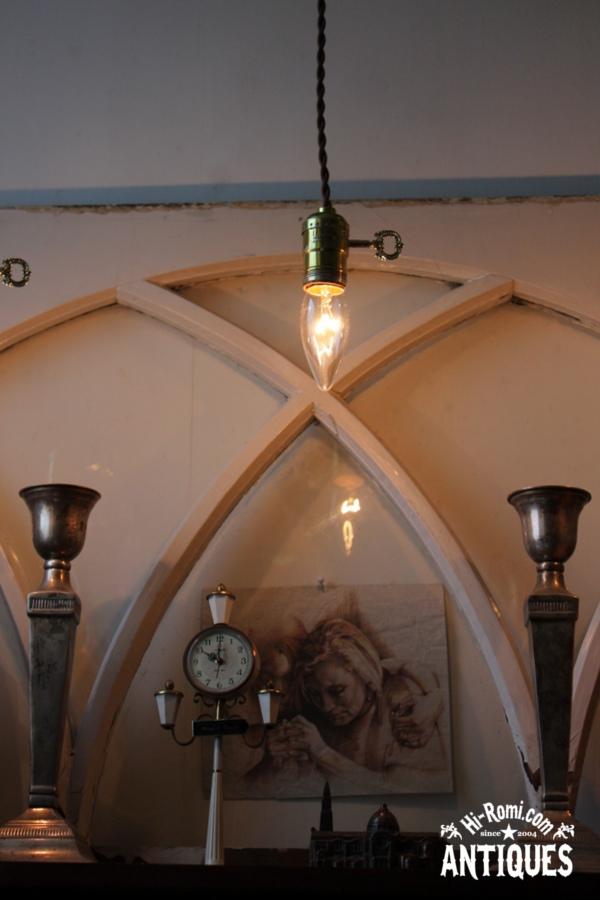 花形シェードミニプリズムランプ/アンティークガラスランプ照明