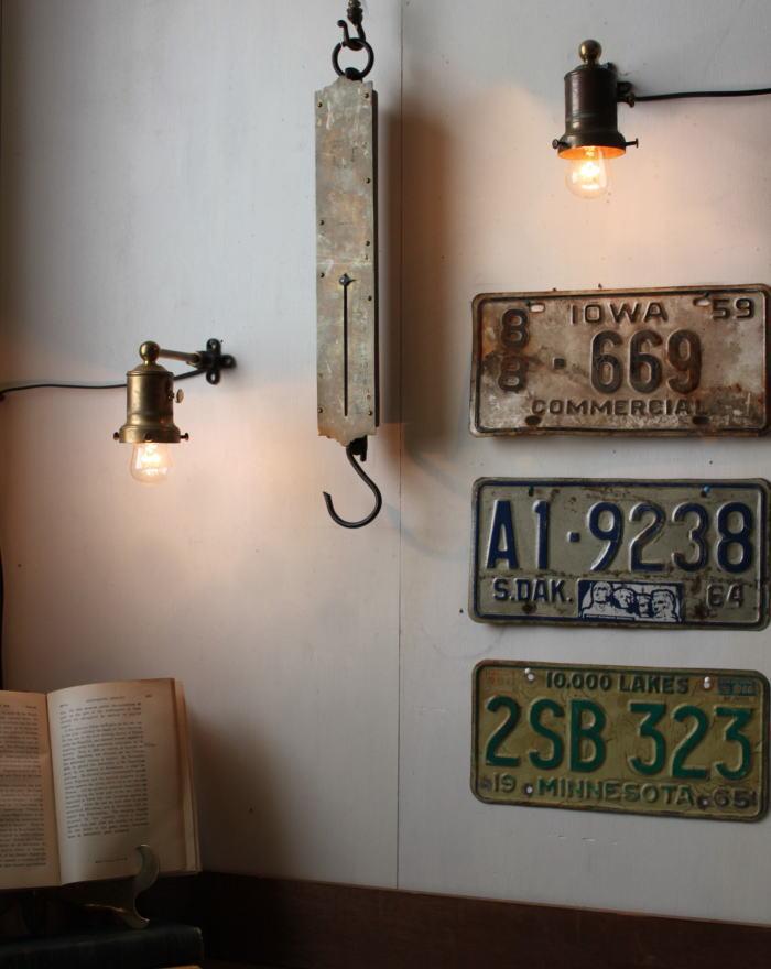 工業系ソケットカバー付ウォールランプA/アンティーク壁掛ライト