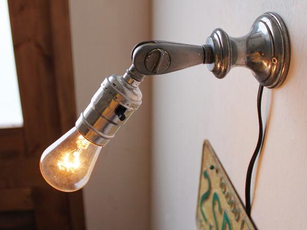 角度調整LEVITONソケット壁掛ライト/アンティーク工業系ランプ