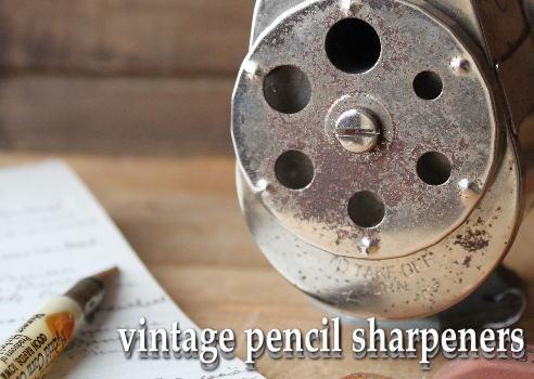 アメリカのヴィンテージ・ペンシルシャープナー 今でもちゃんと削れますよ!