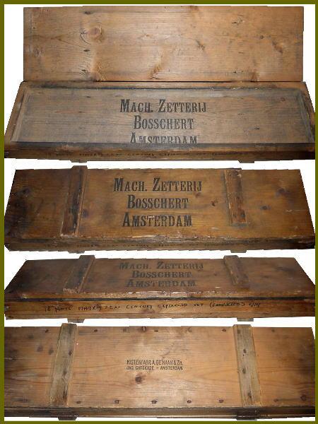 アンティークの木製ウッドボックス ロゴが渋いでしょ!