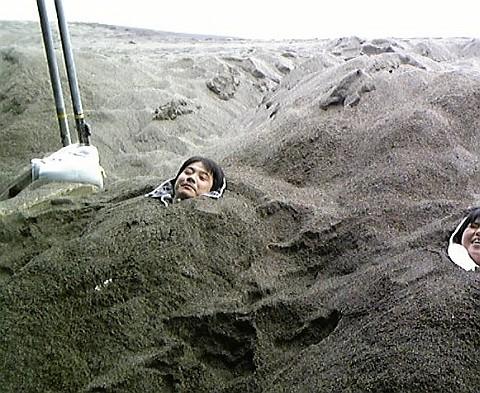 天然砂蒸し風呂