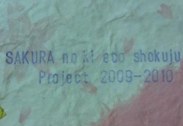 桜の木エコ植樹プロジェクト!2009-2010 5