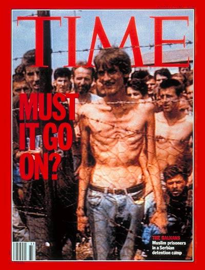 『タイム』誌の表紙になった「強制収容所」。