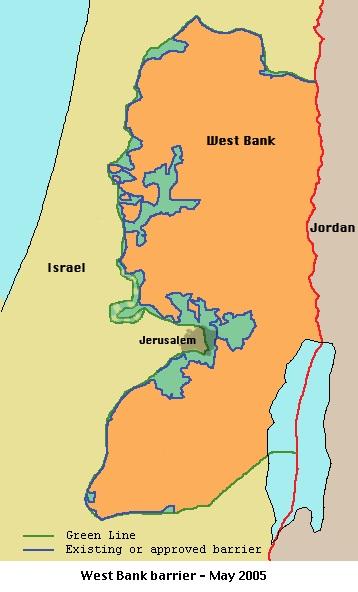 イスラエル 分離壁 2005