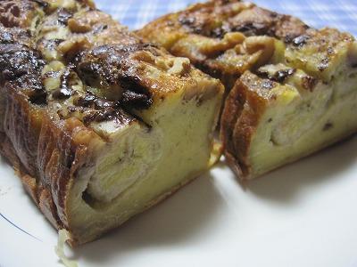 胡桃バナナスポンジケーキ