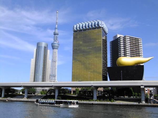 アサヒビール本社と東京スカイツリー9〔フリー写真〕
