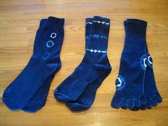 藍染め靴下