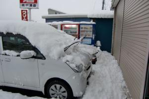 本格的な雪
