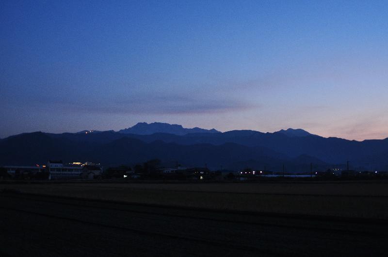 石鎚山 夕暮れ風景