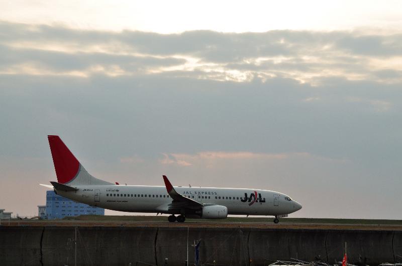 松山空港 飛行機