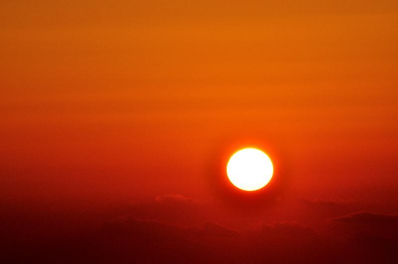 松山市新開 河野川河口岸壁 夕日