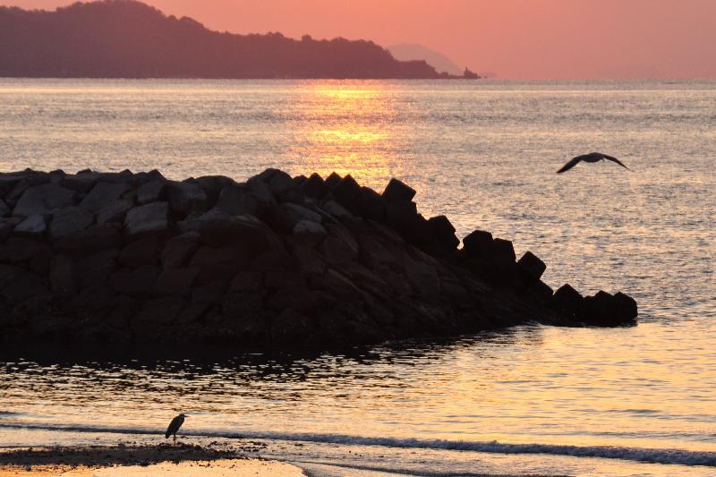夕景 北条海岸