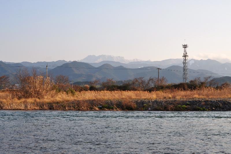 西条市 中山川 風景