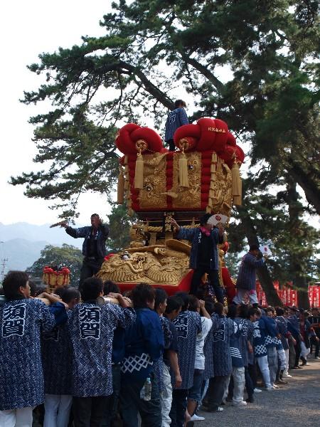 さぬき豊浜ちょうさ祭  豊浜八幡神社宮参り 二十二番 須賀