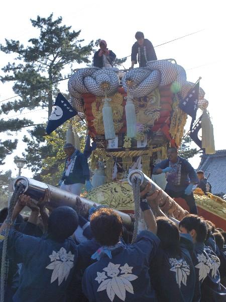香川県観音寺市の琴弾八幡宮の秋季大祭   本若太鼓台