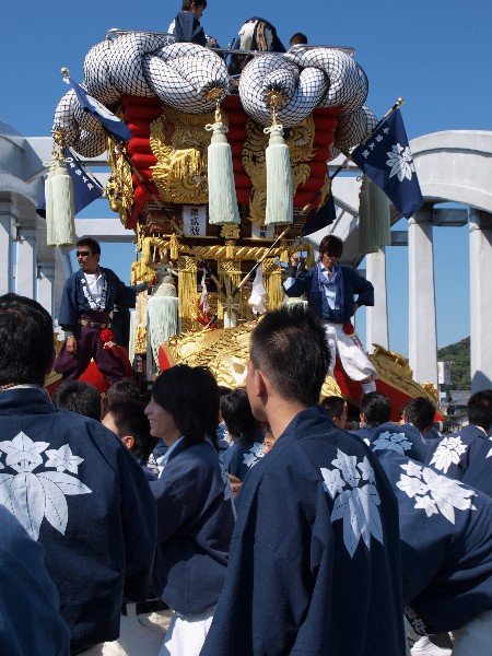 香川県観音寺市・琴弾八幡宮大祭 ちょうさ