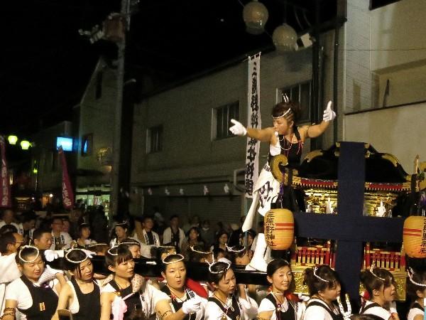 松山市平井 女の秋祭り 女神輿 三熊野神社