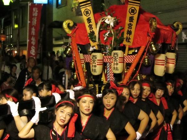 松山市平井 女の秋祭り 女神輿 西宮神社