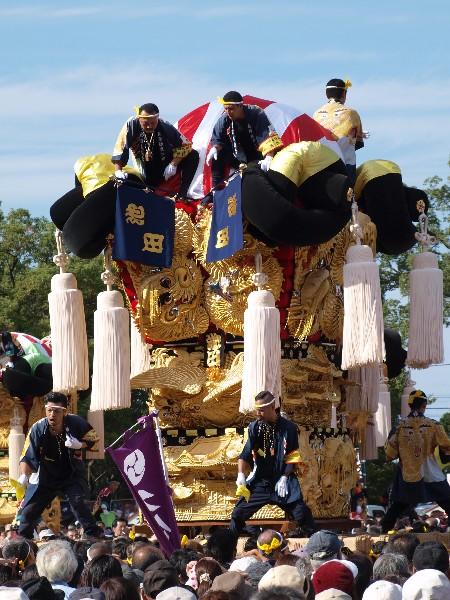 平成25年新居浜太鼓祭り 山根グラウンド統一寄せ 池田太鼓台