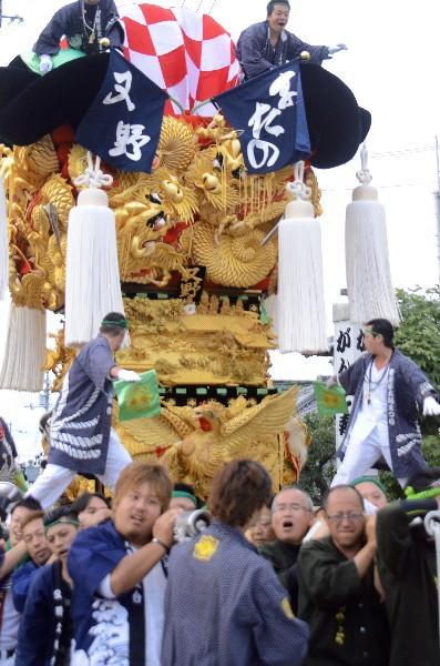 平成25年新居浜太鼓祭り 多喜浜駅前 又野太鼓台