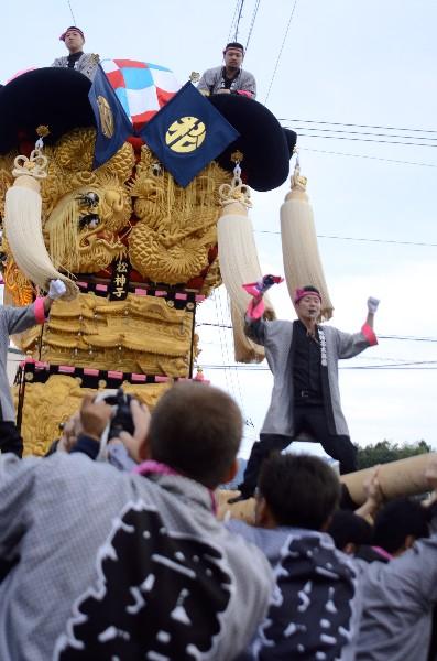 平成25年新居浜太鼓祭り 多喜浜駅前 松神子太鼓台