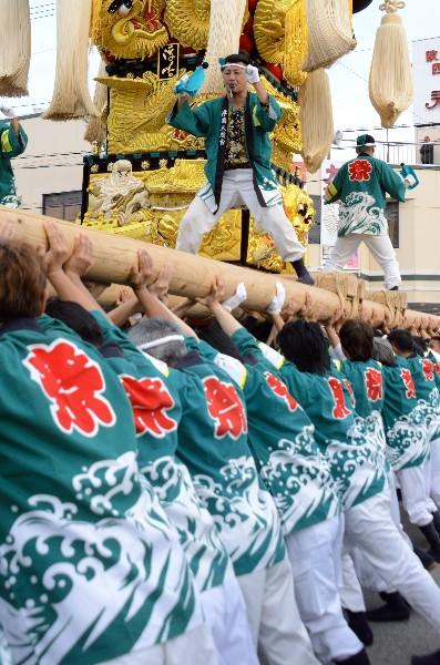 平成25年新居浜太鼓祭り 多喜浜駅前 浮嶋太鼓台