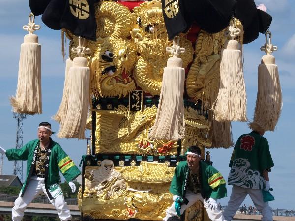平成25年新居浜太鼓祭り 河川敷公園 浮嶋太鼓台