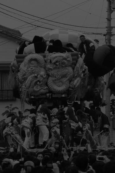 新居浜太鼓祭り 鉢合わせ 町太鼓台VS楠崎太鼓台