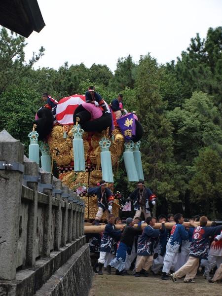 平成25年度新居浜太鼓祭り  八幡神社かきくらべ 新田太鼓台
