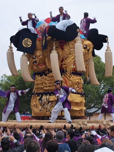 平成25年度新居浜太鼓祭り 八幡神社かきくらべ 白浜太鼓台