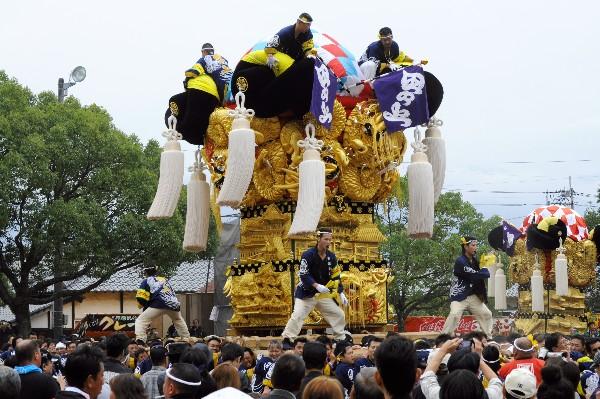 平成25年度新居浜太鼓祭り 八幡神社かきくらべ 田上太鼓台