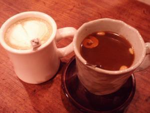100104抹茶ラテとナツメ茶