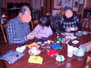 20110203お客さまと折り紙遊び