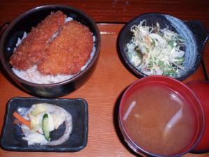 20110219身にタレカツ丼セット700円