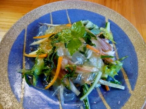 くずきりと野菜のサラダ