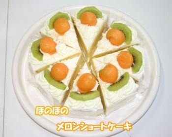 ほのぼのメロンショートケーキ080829a