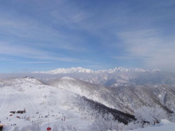 14白山の山並