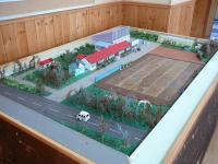 旧校舎の模型です。