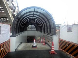 武蔵小杉のトンネル